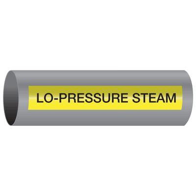 Xtreme-Code™ Self-Adhesive High Temperature Pipe Markers - Lo-Pressure Steam