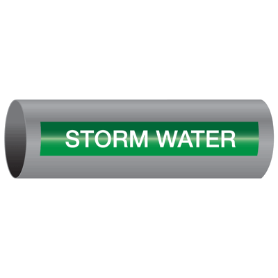 Xtreme-Code™ Self-Adhesive High Temperature Pipe Markers - Storm Water
