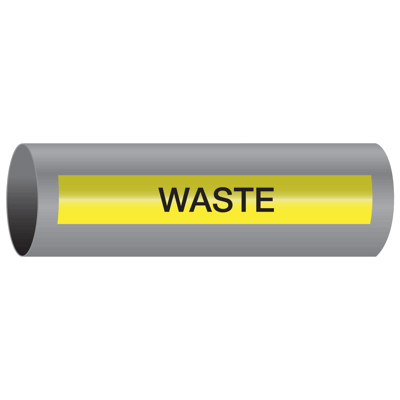 Xtreme-Code™ Self-Adhesive High Temperature Pipe Markers - Waste