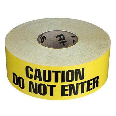 Adhesive Backed Barrier Tape - Caution Do Not Enter