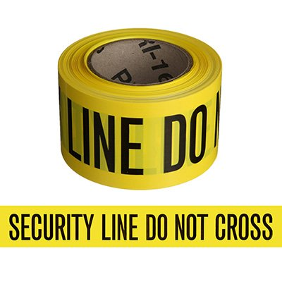 Economy Printed Barricade Tape - Security Line