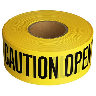 Barricade Tape - Caution Open Trench