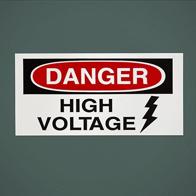 Safety Labels On A Roll - Danger High Voltage