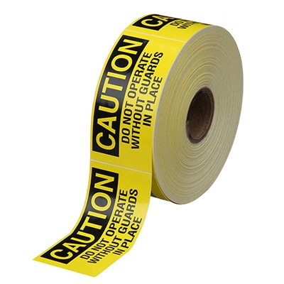 Safety Labels On A Roll - Caution Do Not Operate