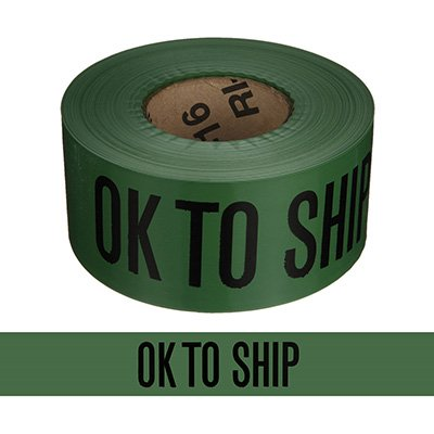 Quality Control Barricade Tape - Ok To Ship