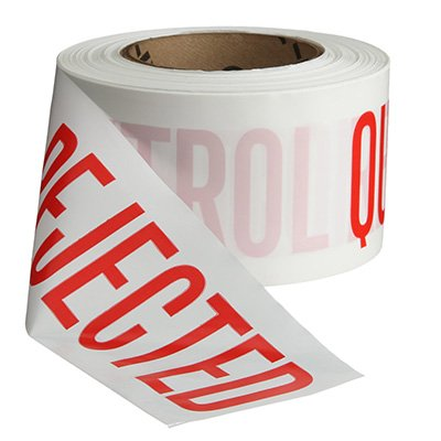 Quality Control Barricade Tape - Rejected