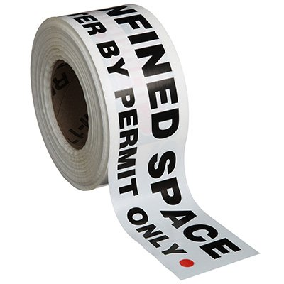 Confined Space Barricade Tape - Danger Confined Space Enter By Permit Only