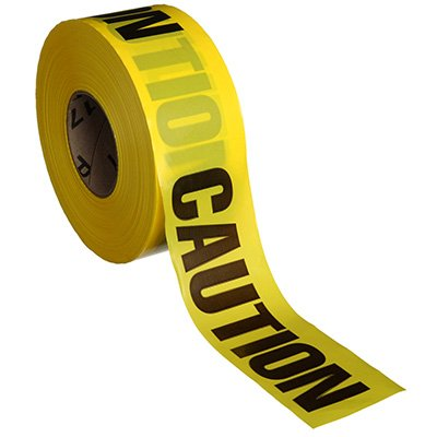 "Barricade Tape - Caution - 3"" x 1000'"