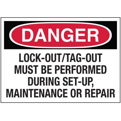 Lockout Hazard Warning Labels - Danger Lock-Out/Tag-Out