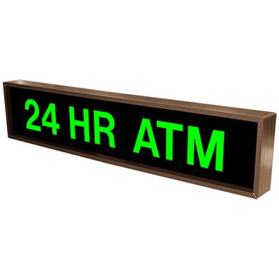 24 HR ATM Backlit LED Sign