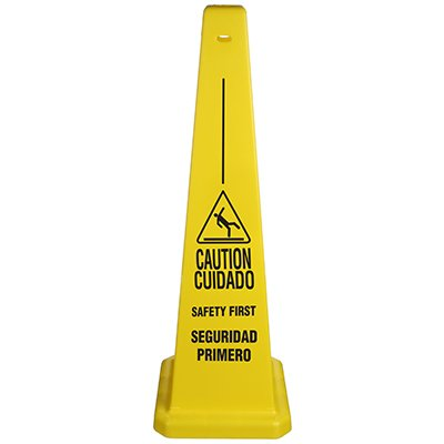 "Cone 4 Side 35"" Safety First"