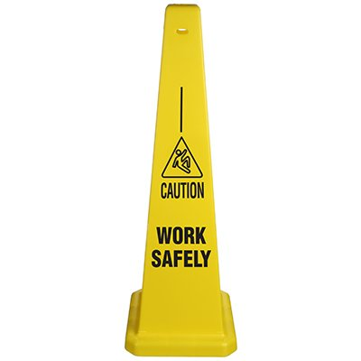 Safety Traffic Cones- Caution Work Safely