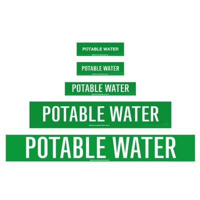 CPVC-Code™ Nonpotable Water Pipe Markers - Potable Water