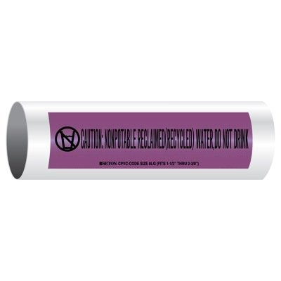 CPVC-Code™ Nonpotable Water Pipe Markers - Reclaimed Water