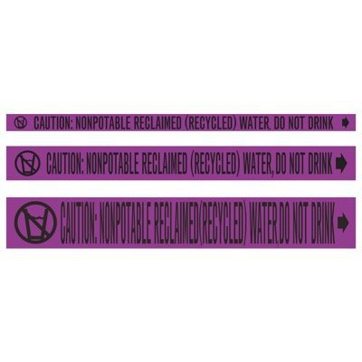 CPVC-Code™ Nonpotable Water Roll Pipe Markers - Reclaimed Water