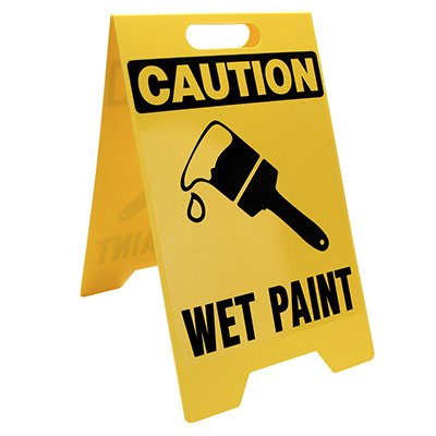 Heavy Duty Floor Stand Signs- Wet Paint (With Graphic)