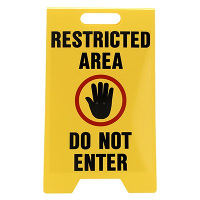 Heavy Duty Floor Stand Signs - Restricted Area Do Not Enter
