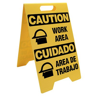 Caution Work Area Portable - Floor Stand