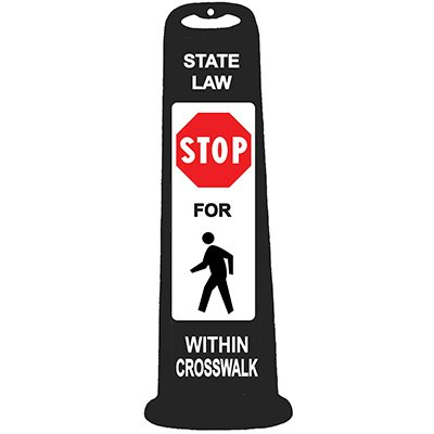 Trailblazer Vertical Panel - State Law Stop for Pedestrian Within Crosswalk