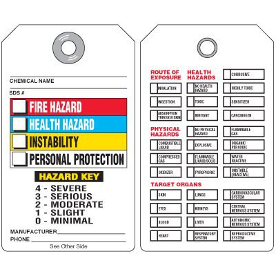 Hazardous Material Information Tags