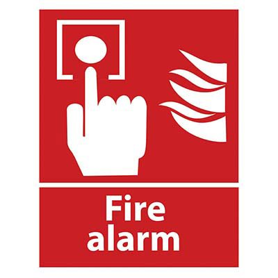 Fire Alarm with Graphic Sign