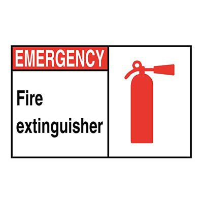 Fire Exinguisher with Graphic Sign