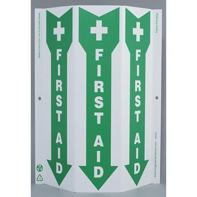 First Aid Tri View Sign