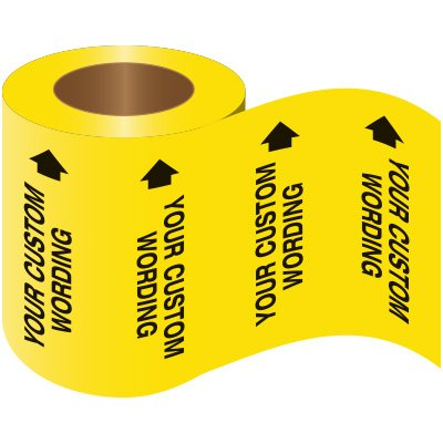 Custom Wrap Around Adhesive Roll Pipe Markers