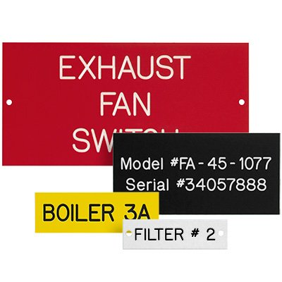 Custom Engraved Phenolic Plastic Equipment Nameplates