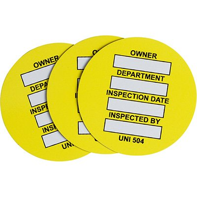 Universal Inspection Tag Inserts