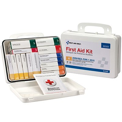 25-Person Unitized Plastic First Aid Kit