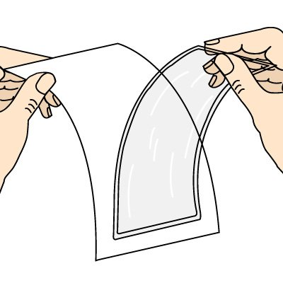 Adhesive-Backed Open Pocket Holders
