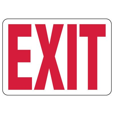 Exit and Fire Equipment Signs - Exit