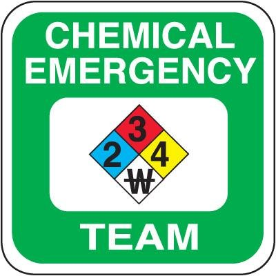 Safety Training Labels - Chemical Emergency Team