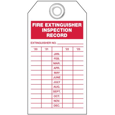 Fire Extinguisher Inspection Tags