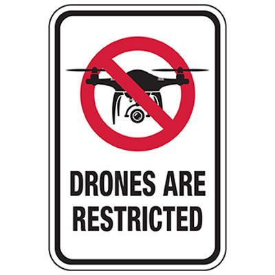 Drones Restricted Sign
