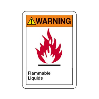 ANSI Warning Sign - Flammable Liquids