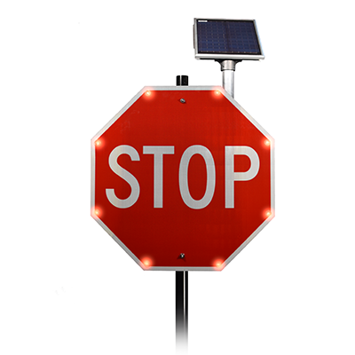 BlinkerStop® Flashing LED Stop Sign