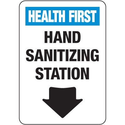 Hand Sanitizing Station Sign
