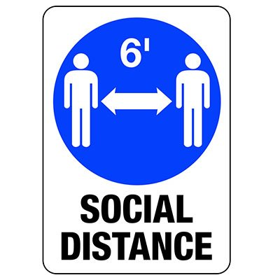 Social Distancing - Keep 6 Feet Apart Sign | Seton