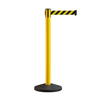 Yellow Retractable Belt Stanchions