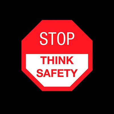 Stop, Think Safety - Safety Message Mat