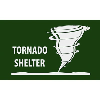 Tornado Shelter - Safety Message Mat