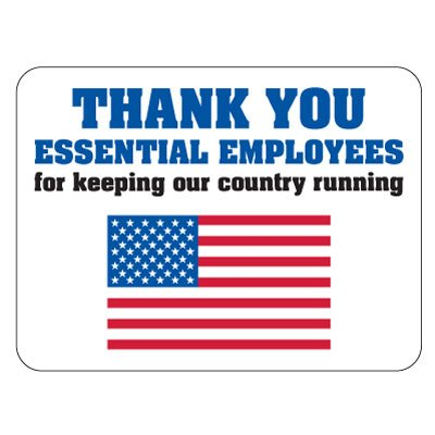 COVID-19 Floor Signs - Thank You Essential Employees