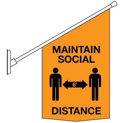 COVID-19 Safety Banners - Maintain Social Distance