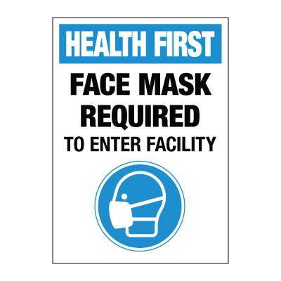 Face Mask Required Decal