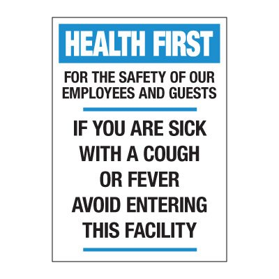 If You Are Sick Avoid Entering Decal