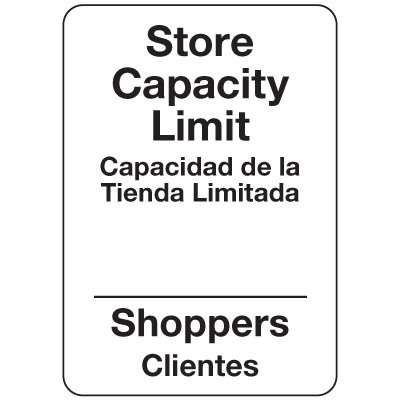 Store Capacity Limit Bilingual Sign