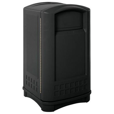 Rubbermaid Plaza Indoor/Outdoor Waste Container - 3964BLA