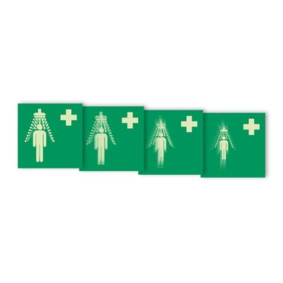 "Seton Motion® First Aid Sign ""Emergency Shower"""